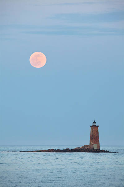 Wall Art - Photograph - Full Moon And Whaleback by Eric Gendron