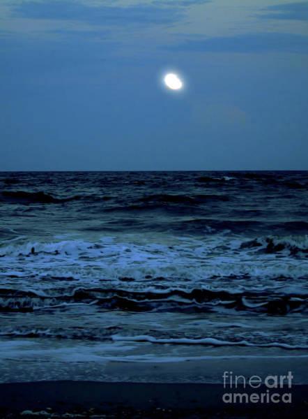 Photograph - Full Moon At The Beach by D Hackett
