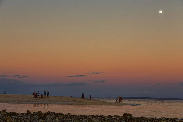Photograph - Full Moon Beach Watching At Sunset by James BO Insogna