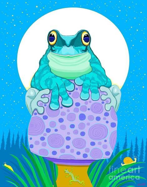 Wall Art - Digital Art - Full Moon Froggy  by Nick Gustafson