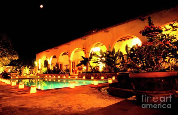 Photograph - Full Moon Hacienda De Los Santos by Thomas R Fletcher