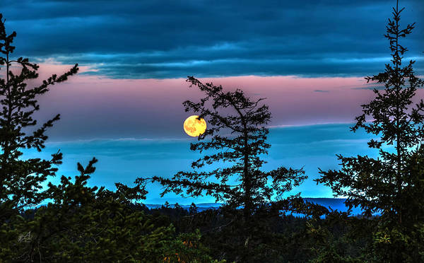 San Juan Islands Wall Art - Photograph - Full Moon In July by Thomas Ashcraft