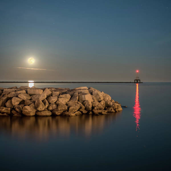 Photograph - Full Moon In Port Square by James Meyer