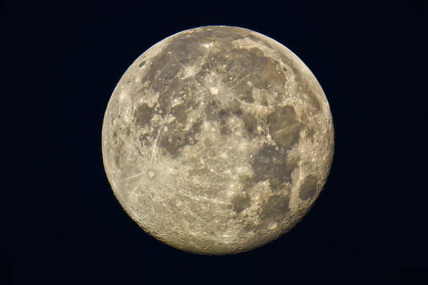 Photograph - Full Moon by James Menzies