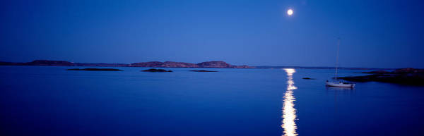 Moonscape Photograph - Full Moon, Night, Bohuslan, Sweden by Panoramic Images