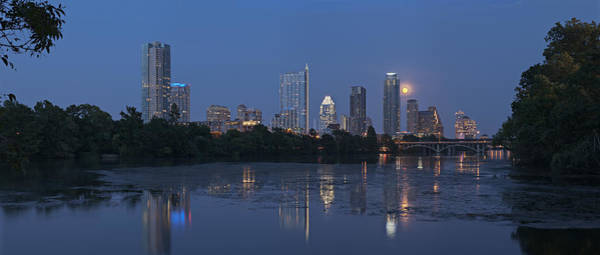 Photograph - Full Moon Over Austin by Robert Harshman