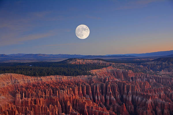 Photograph - Full Moon Over Bryce Canyon  by Raymond Salani III