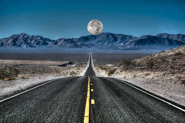 Wall Art - Photograph - Full Moon Over Death Valley by Donna Kennedy
