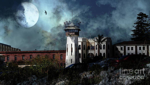 Photograph - Full Moon Over Hard Time San Quentin California State Prison 7d18546 V2 Long by Wingsdomain Art and Photography