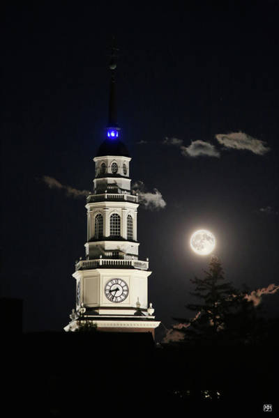 Photograph - Full Moon Over Miller Library by John Meader