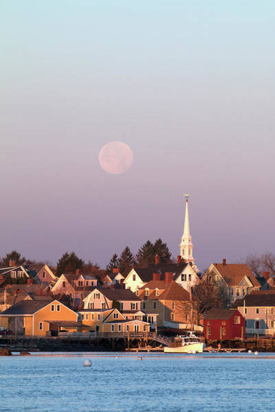 Wall Art - Photograph - Full Moon Over Portsmouth Nh by Eric Gendron