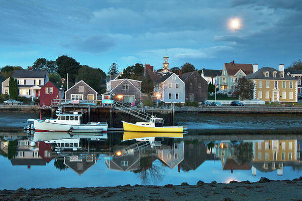 Wall Art - Photograph - Full Moon Over Portsmouth South End by Eric Gendron