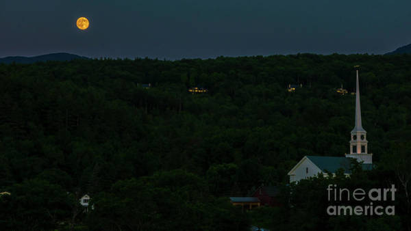 Photograph - Full Moon Over Stowe by Scenic Vermont Photography
