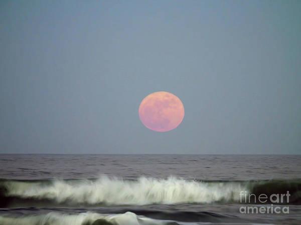 Photograph - Full Moon Over The Atlantic by D Hackett