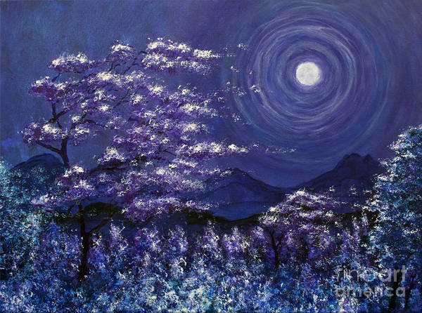 Painting - Full Moon Over The Mountain by Tim Musick