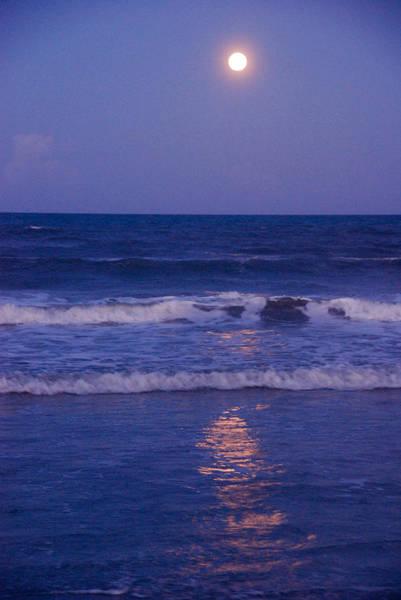 Full Moon Over The Ocean Art Print