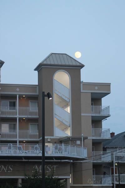 Photograph - Full Moon Over The Oceans Mist Building by Robert Banach