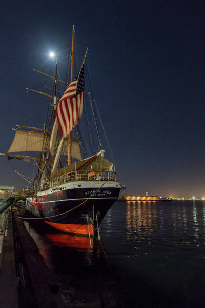 Photograph - Full Moon Over The Star Of India by M C Hood