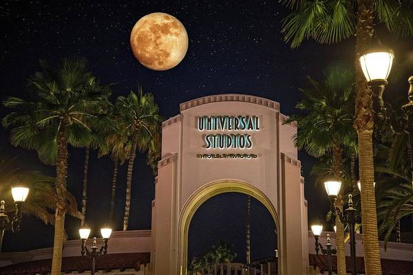 Photograph - Full Moon Over Universal by Lynn Bauer
