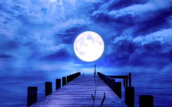 Full Moon Mixed Media - Full Moon by Pixabay