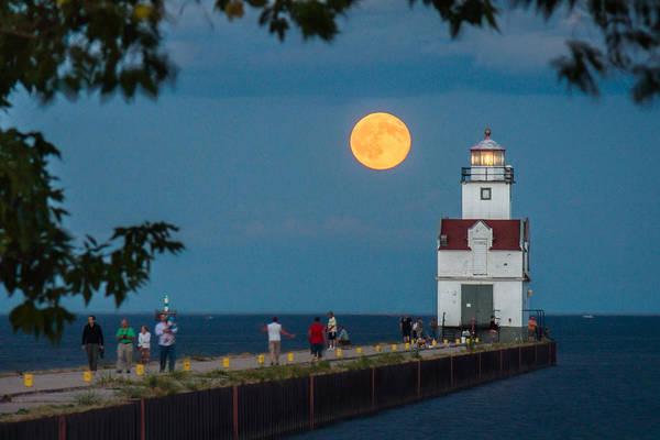 Wall Art - Photograph - Full Moon Promenade by Bill Pevlor