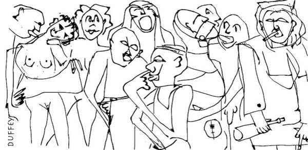Digital Art - Full Moon Psyche Ward- Nurse Tranks Said F--k It by Doug Duffey