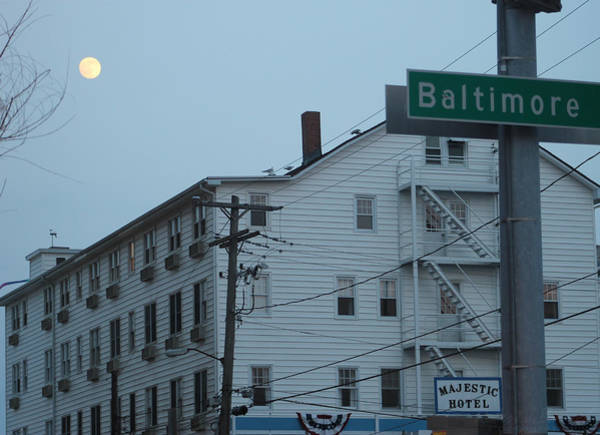 Photograph - Full Moon Rising Over The Majestic Hotel by Robert Banach