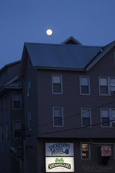 Photograph - Full Moon Rising Over The Shoreham Hotel by Robert Banach