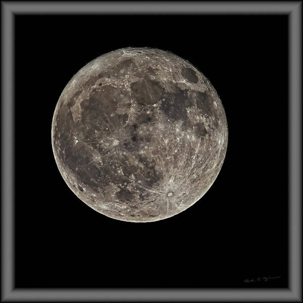 Photograph - Full Moon S23cfr by Mark Myhaver