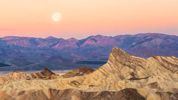 Photograph - Full Moon Setting by Rick Wicker
