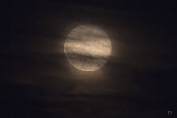 Photograph - Full Moon Through Clouds by John Meader
