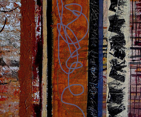 Stripe Mixed Media - Full Of Surprises by Ruth Palmer