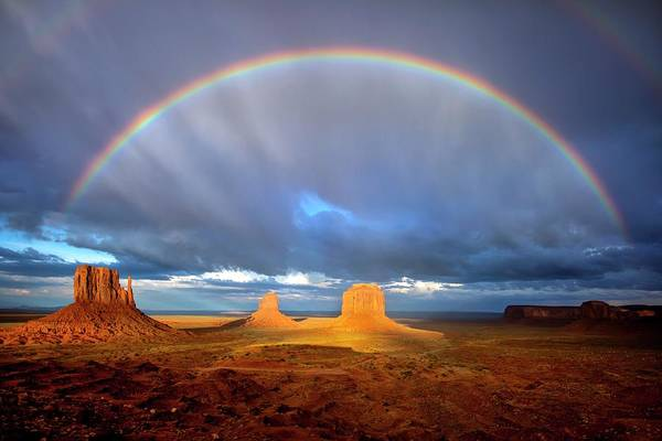 Photograph - Full Rainbow Over The Mittens by Harriet Feagin