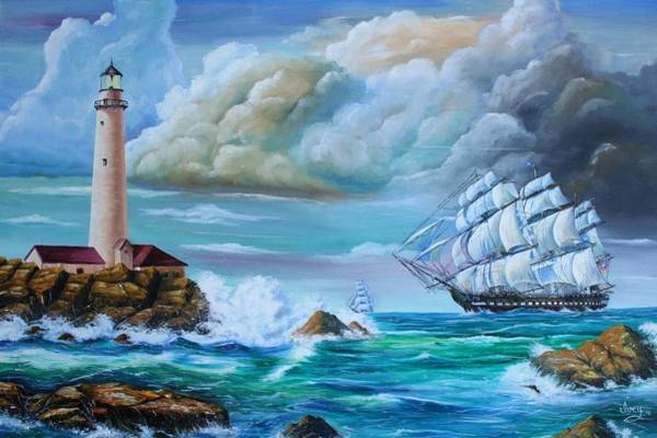 Painting - Full Sail by Mike Ivey