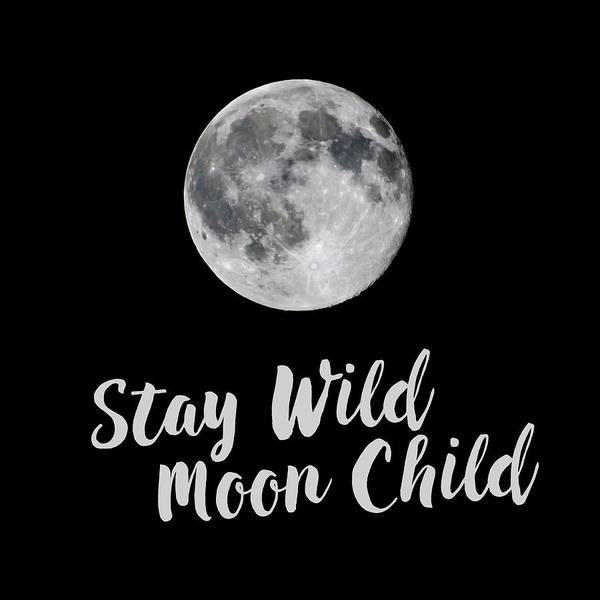 Photograph - Full Strawberry Moon Stay Wild Square by Terry DeLuco