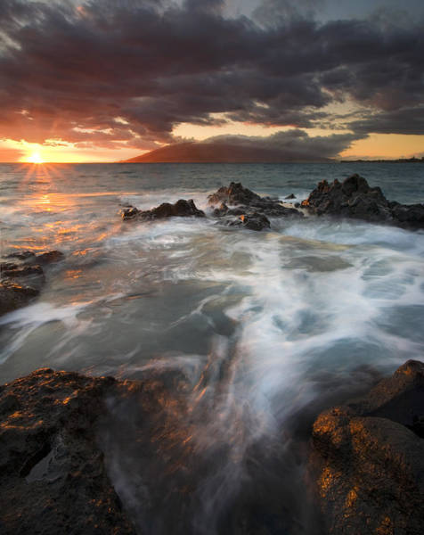 Maui Sunset Wall Art - Photograph - Full To The Brim by Mike  Dawson