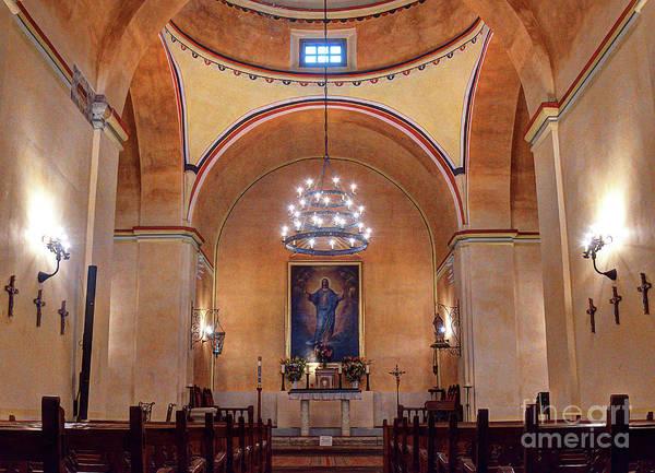 Photograph - Fully Restored Interior Mission Concepcion San Antonio Texas by Wayne Moran