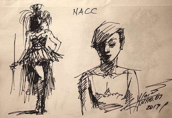Wall Art - Drawing - Fun At Art Of Fashion At Nacc 1 by Ylli Haruni