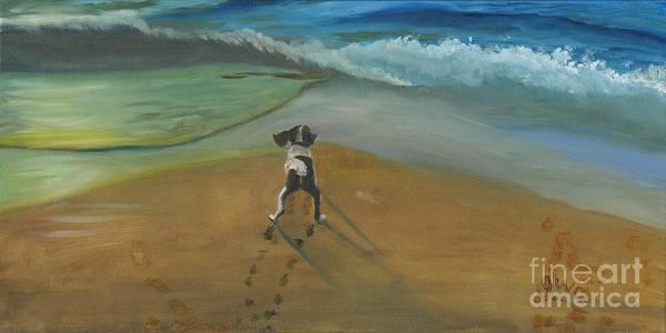 Wall Art - Painting - Fun At The Beach by Gloria Condon