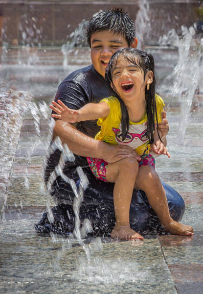 Photograph - Fun At The Fountains by James Woody
