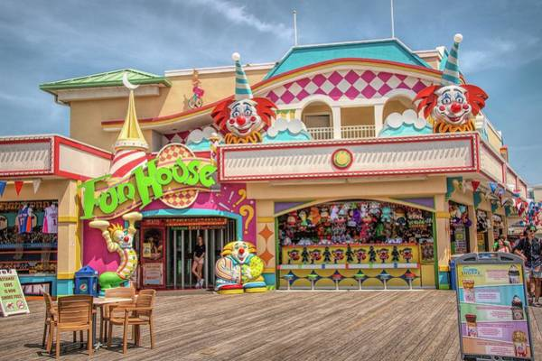 Photograph - Fun House On The Point Pleasant Boardwalk by Kristia Adams