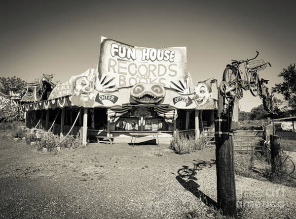 Roadside Attraction Wall Art - Photograph - Fun House Records And Books by Edward Fielding