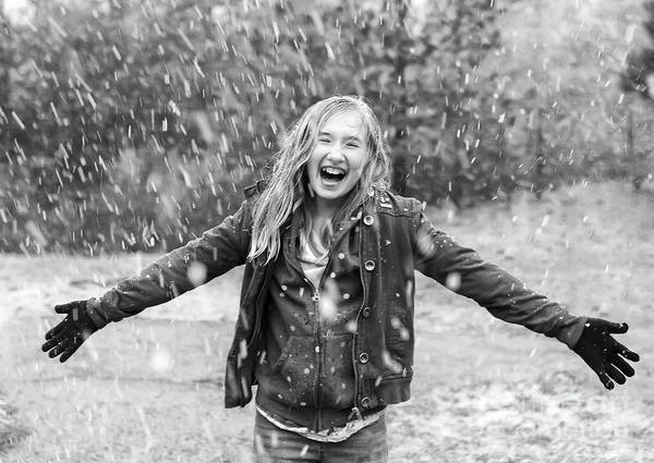 Photograph - Fun In The Snow by Eddie Yerkish