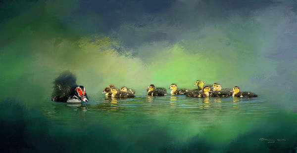 Ducks Photograph - Fun On The Water by Marvin Spates