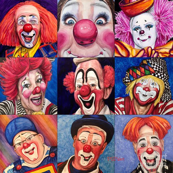 Painting - Fun Real Clowns by Patty Vicknair