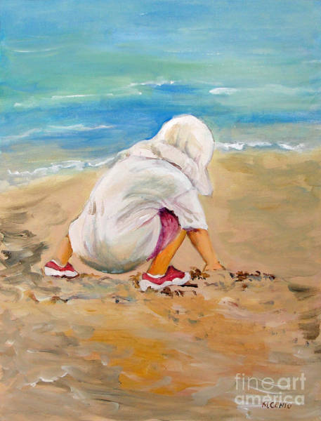 Sneakers Painting - Fun With The Sand by Mafalda Cento