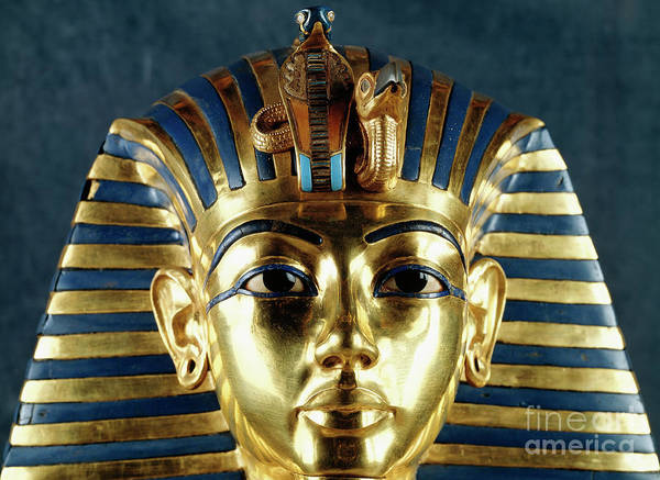 Funeral Photograph - Funerary Mask Of Tutankhamun by Egyptian School