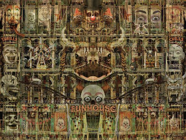 Gargoyle Digital Art - Funhouse Of The Damned by Bill Jonas