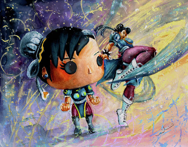 Painting - Funko Chun Li by Miki De Goodaboom