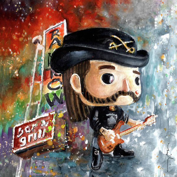 Painting - Funko Lemmy Kilminster Out To Lunch by Miki De Goodaboom